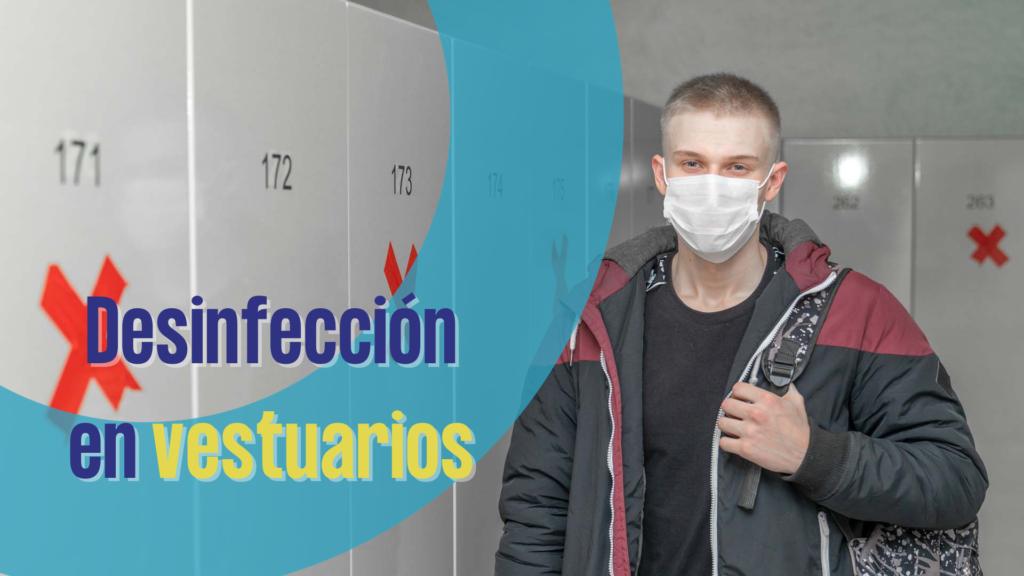 Desinfección en vestuarios